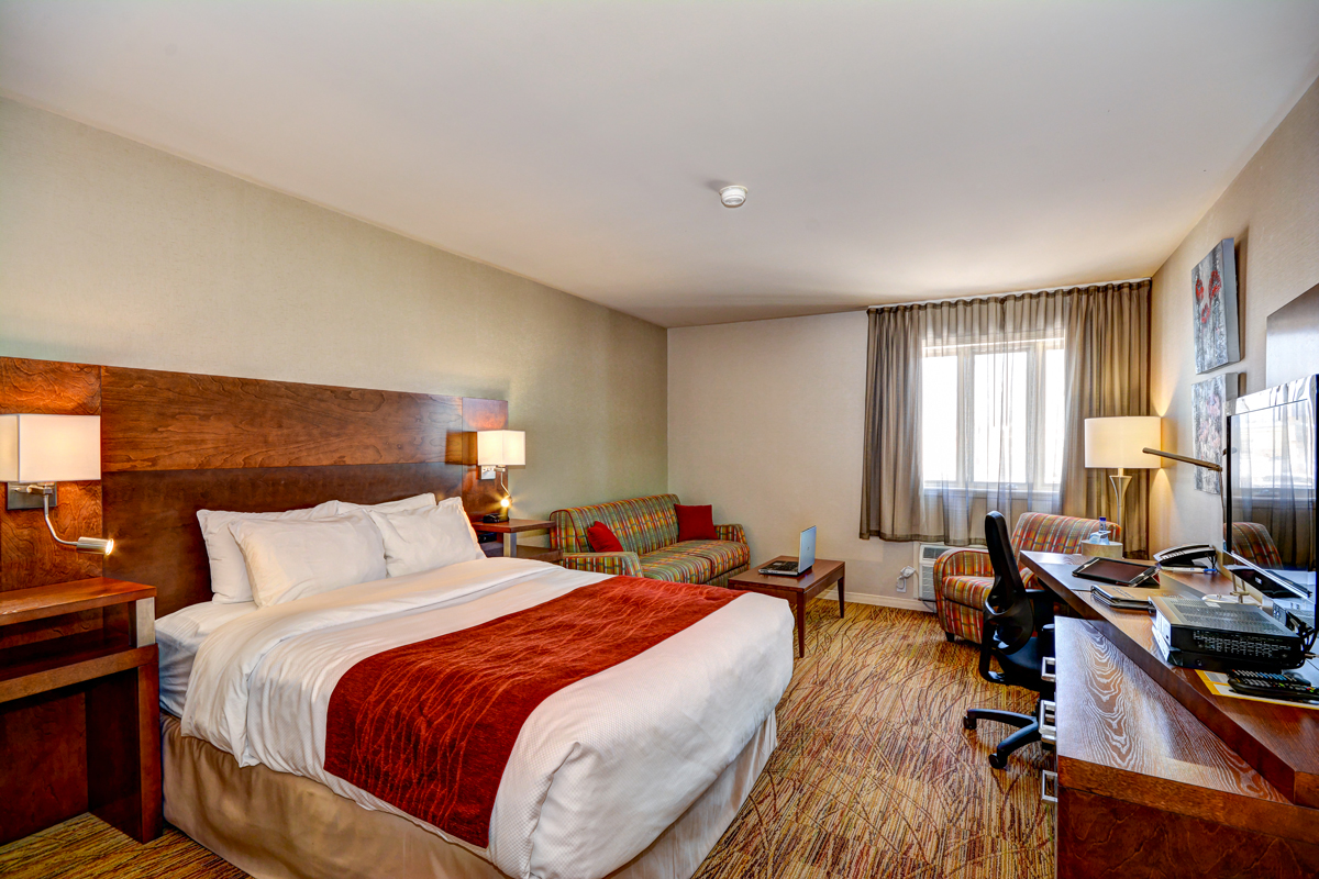 Executive queen size rooms with a sofa bed comfort inn mont laurier - Dimension lit queen size ...